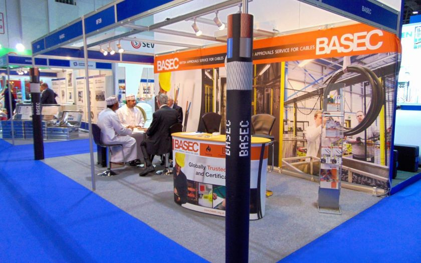 Doing business at the BASEC stand last year. | Basec Mee 2016